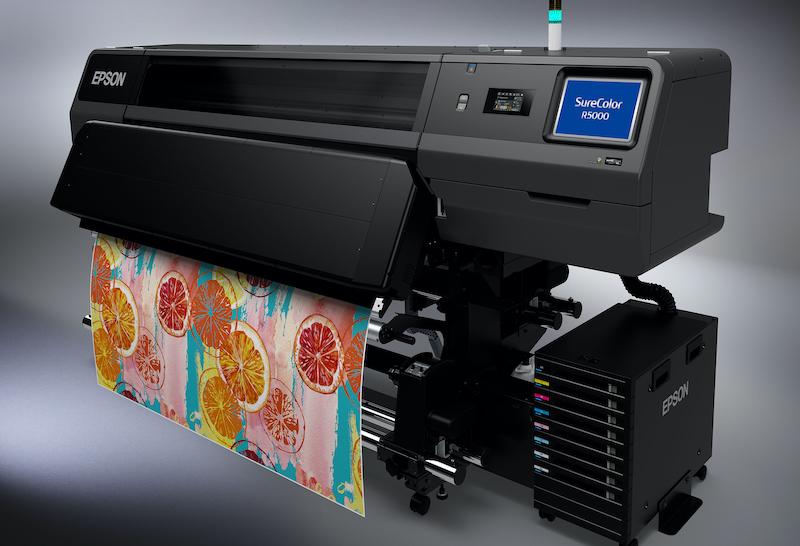 Epson Surecolor SC-R5000 mit Resin-Tinte