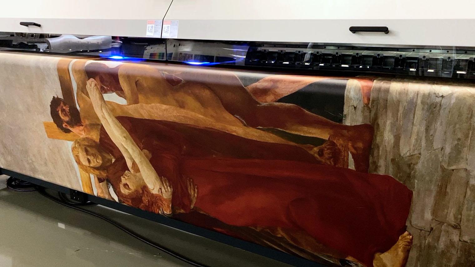 Kunstprojekt Augmented Reality Mimika Großformatdruck