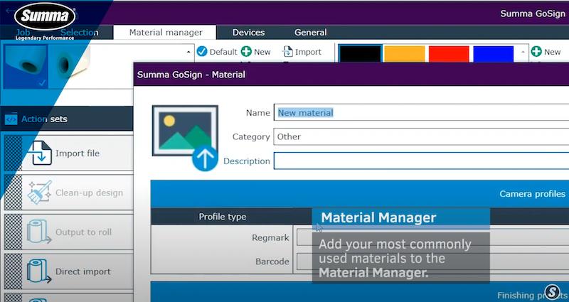 Summa GoSign Softwaremodul für Rollen-Cutter