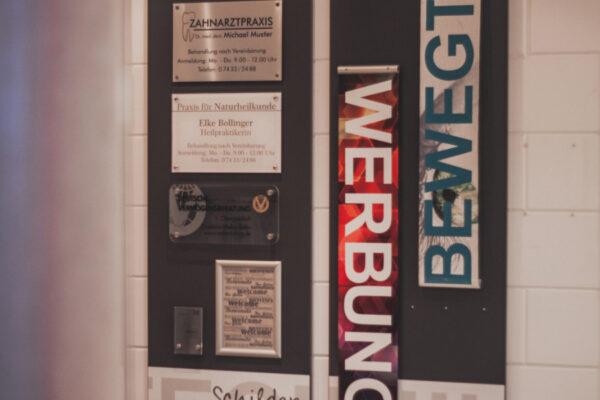 GK Werbetechnik Ausstellung Schilder 1