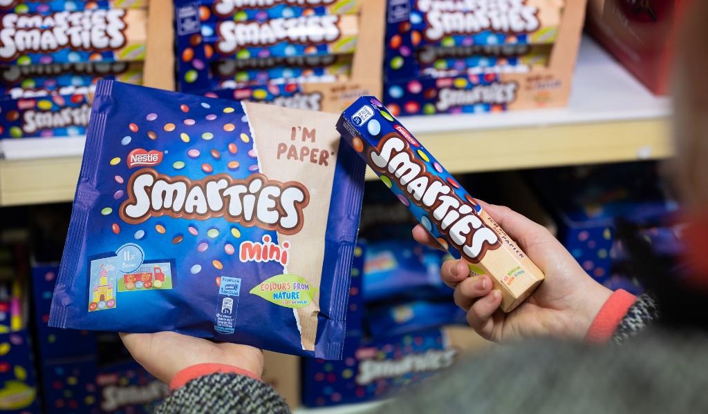 Nestle Smarties Papierverpackung 3