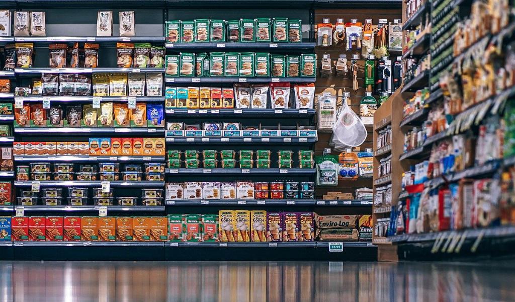 Verpackungen Supermarkt