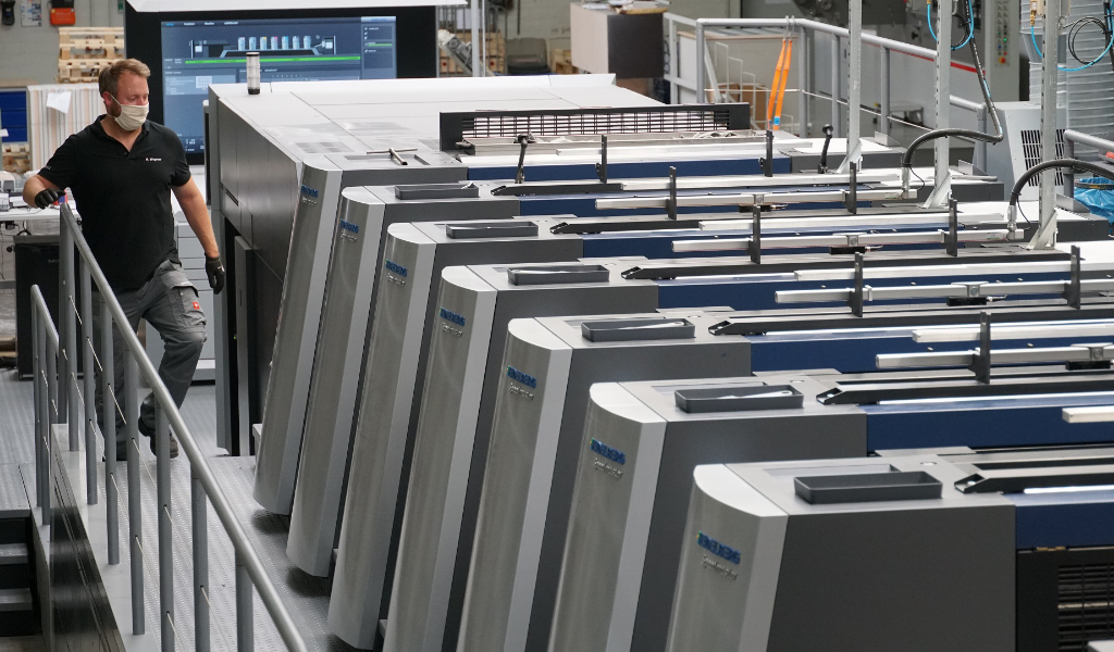 Bobst Mediahaus Ahaus Speedmaster XL 106-6+L Heidelberger Druckmaschinen