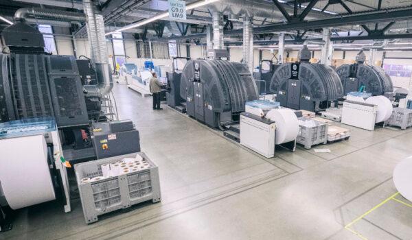 Elanders Print & Packaging Waiblingen Produktion Rolleninkjet
