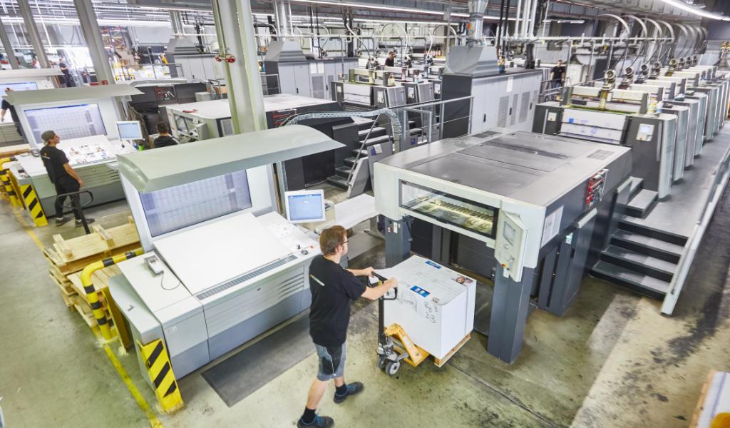 Onlineprinters Offsetdruck Druckproduktion