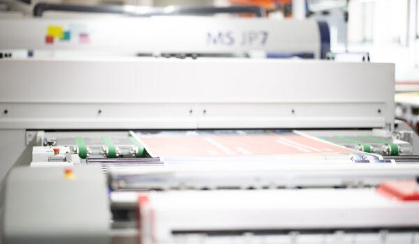 Printpiloten Produktion JP7 Plakatproduktionslinie