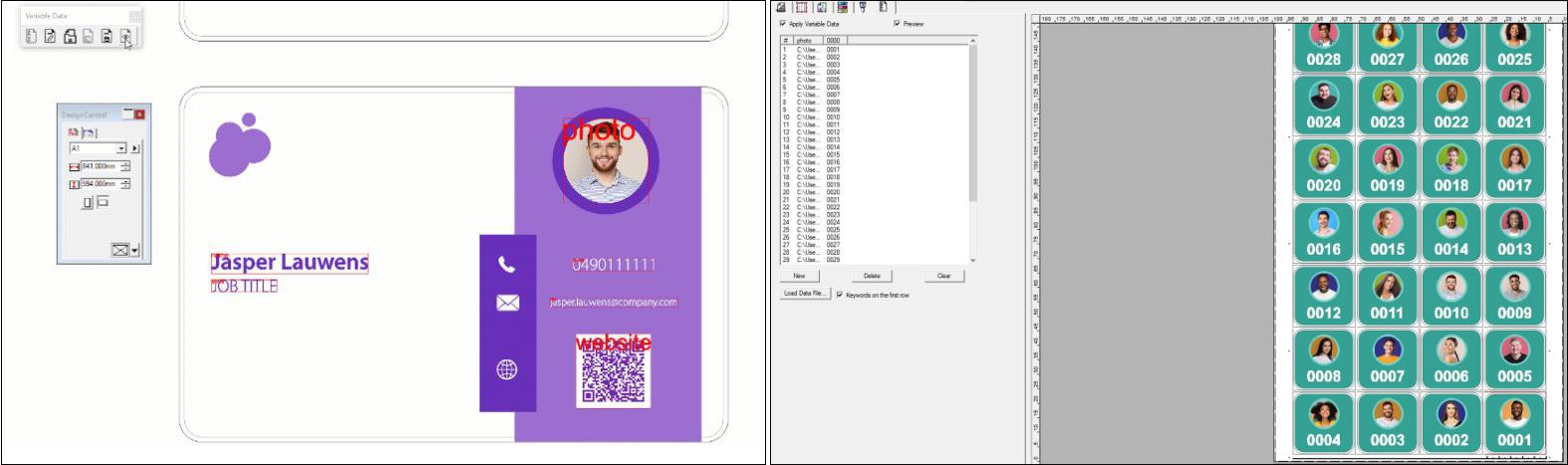 SAi Flexi 21 VDP variabler Datendruck