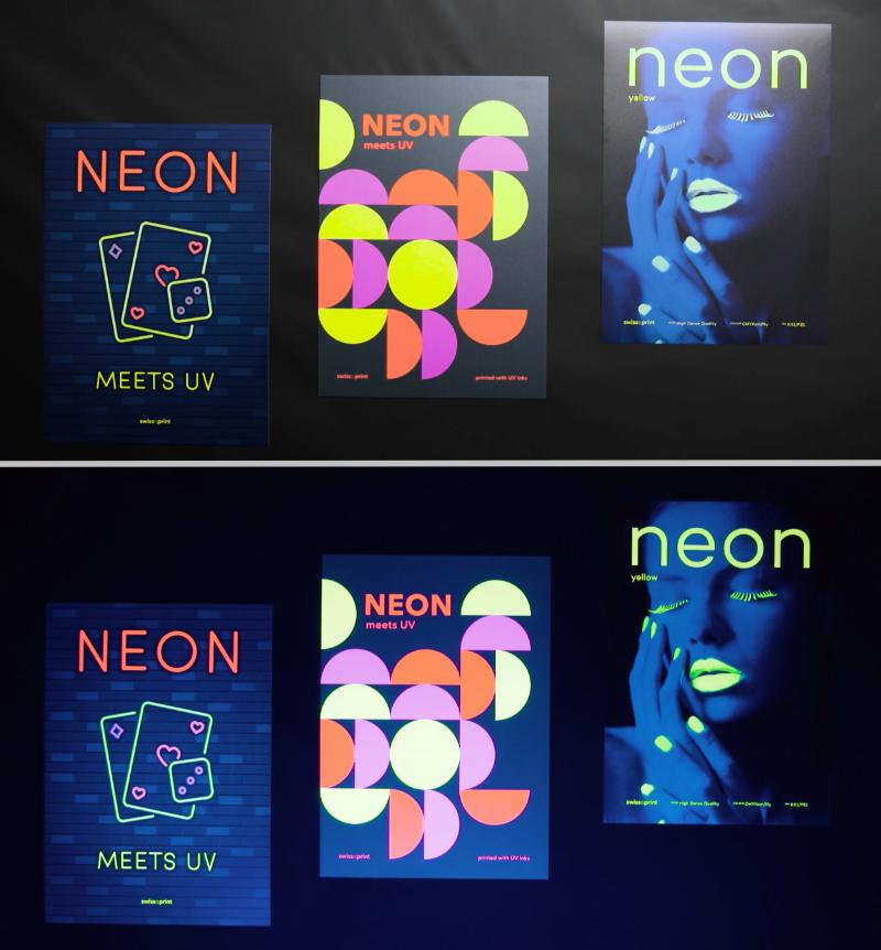 swissQprint Neon-Tinte Schwarzlicht