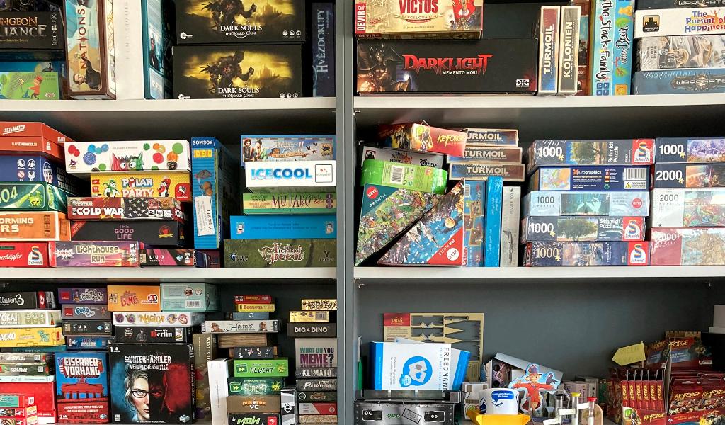 Ludo Fact Friedmann Print Spiele und Puzzle Musterregal