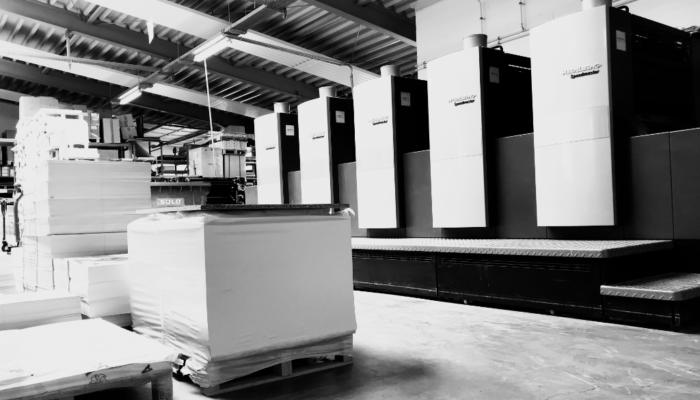 Druckerei Zabel Druckproduktion Offsetdruck sw