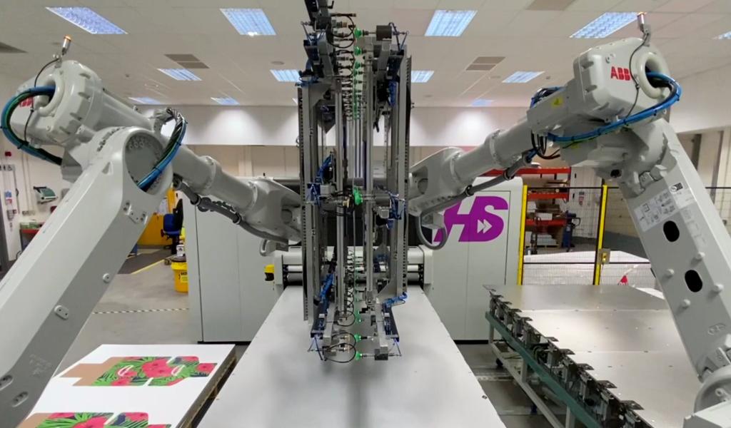 Fujifilm Inca Digital Onset X HS High-Five Roboterarm für doppelseitigen Druck
